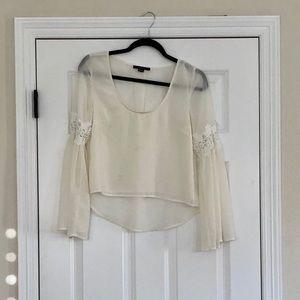 F21 Cream blouse